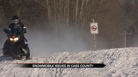 Landowners fed up after snowmobilers continue to disregard marked...